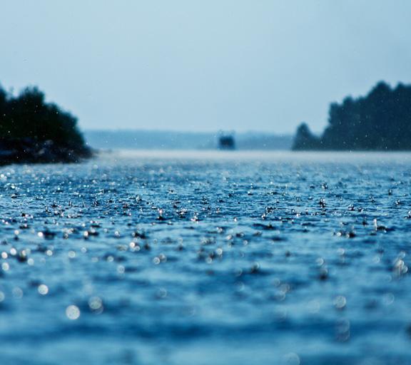 Suono e rumore della pioggia. Tuono